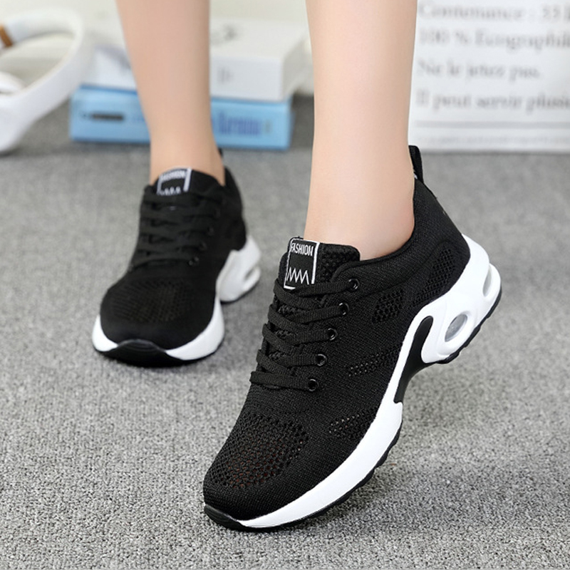 Summer Breathable Women Casual Shoes 2018 Fashion New Lace-Up Ladies Mesh Shoes Female Footwear Leisure Women Sneakers YBT1010
