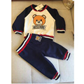 Children brand clothing 2017 autumn boys clothes cotton long sleeve O-neck lovely bear  lining t shirt kids tops