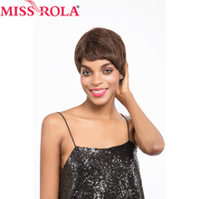 Miss Rola Hair Brazilian 100% Human Hair straight #2/4 Short Hair Wigs For Black Women whole manchine Free Shipping