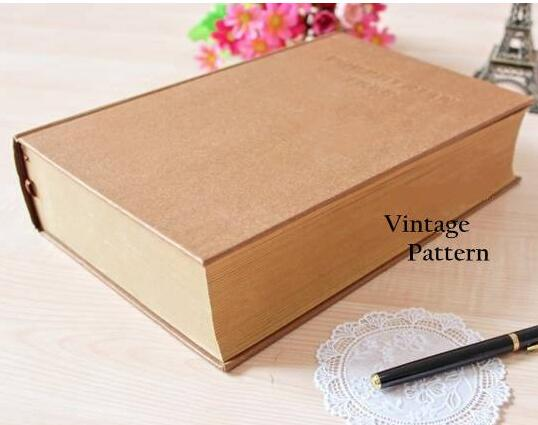 Vintage Kraft Porphyrian Tree Thick Dictionary Design Super Thick Life Diary Book Notebook 27*19*6.5cm 1100 Pages Sketchbook porphyrian tree vintage craft sheets thick diary notebooks dictionary notepad 270 190 65mm blank sheets 1100page sketchbook gift