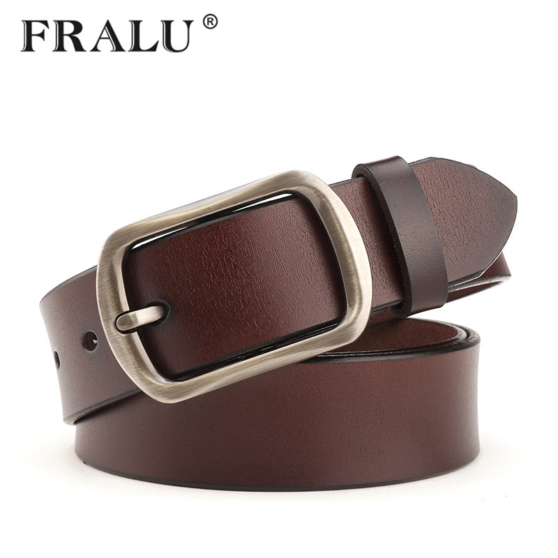 2017 hot designer belts men high Quality brown luxury 100% real full grain cowhide genuine leather fashion cowboys for women red