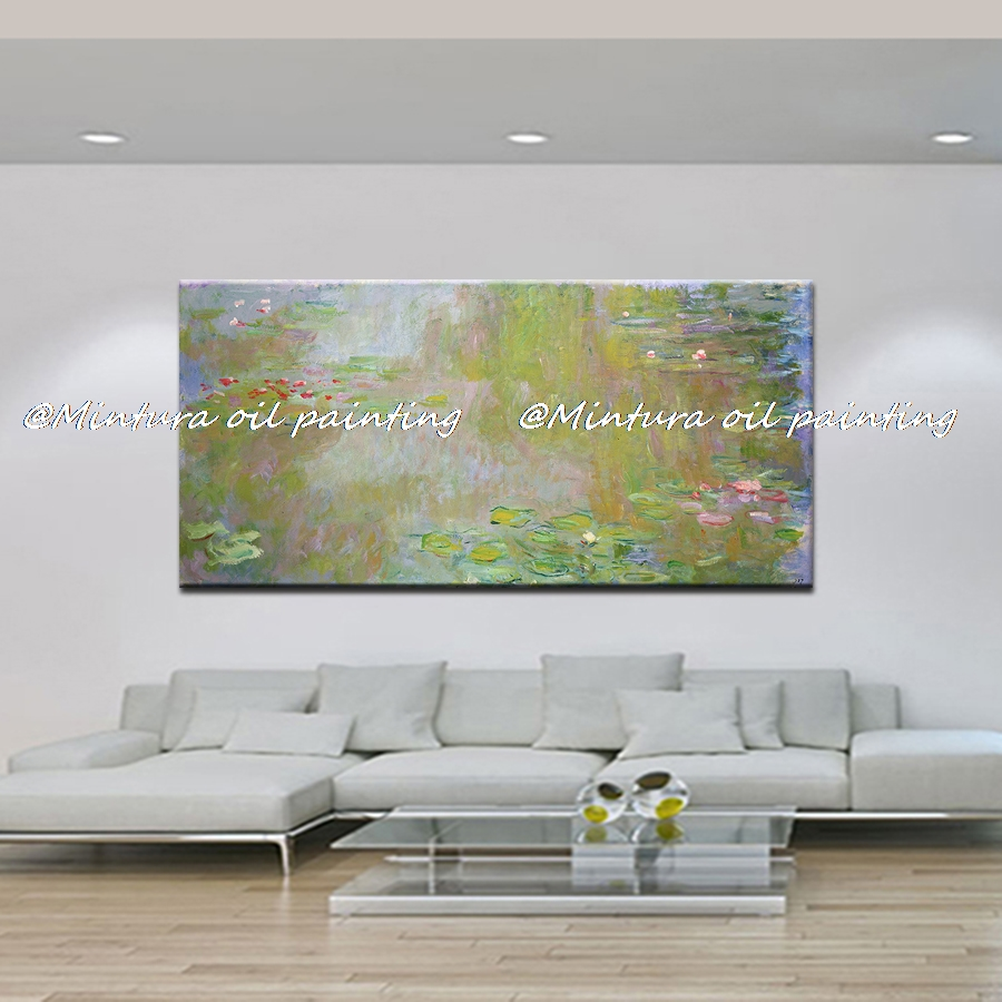 Handpainted The Water-Lilies Pond Claude Monet Oil Painting Reproduction Painting On Canvas Wall Picture Decor Home Decoration