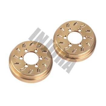 INJORA 2PCS Brass 63g Internal Counterweight for 1.9 2.2 inch Wheel Rims Axial SCX10 90046 D90 TF2 Traxxas TRX4