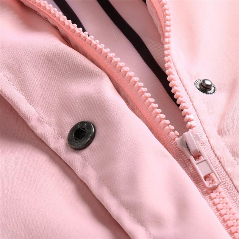 Rain Coat Women Plus Size Coat 2018 Long Sleeve Waterproof Jacket Hooded Raincoat Jacket Women Clothes Warm Coat Girl #O11 (43)