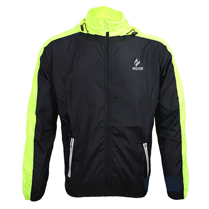 цена на Running Coat Men Running Jacket Windproof Pack Clothes Breathable Cycling Clothing Coat Clothes
