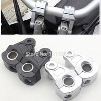 Universal Motorcycle Handlebar Riser 7 8 22mm 1 1 8 28mm Bars Clamp Adjustable 2 Pivoting