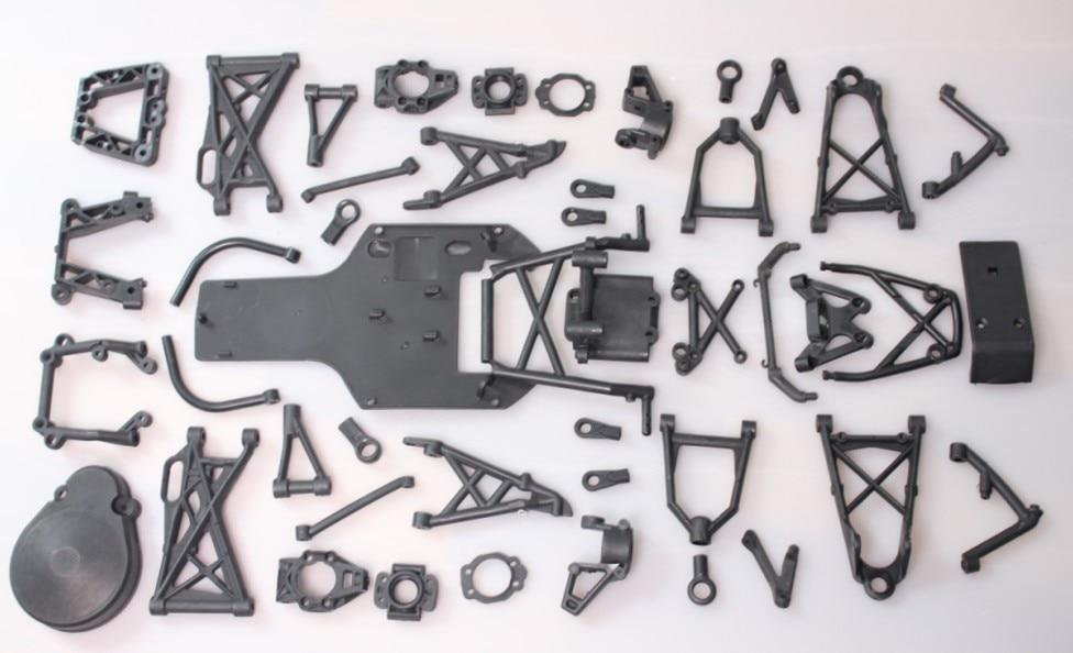 Baja 5b 5T suspension arm set black color baja plastic parts kit new arrivals baja new front suspension arm set
