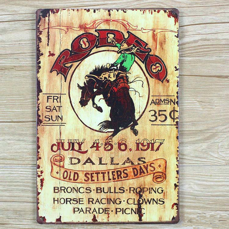 Direct selling OLD SETTLERS DAYSVintage signs home decor Office Restaurant Bar Metal Painting art 20X30 CM