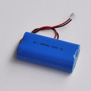1-2PCS 7.4V 18650 lithium ion