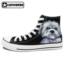 Original Design Dog High Top Black Converse All Star Man Woman Shoes Hand Painted Men Women Canvas Sneakers Gifts