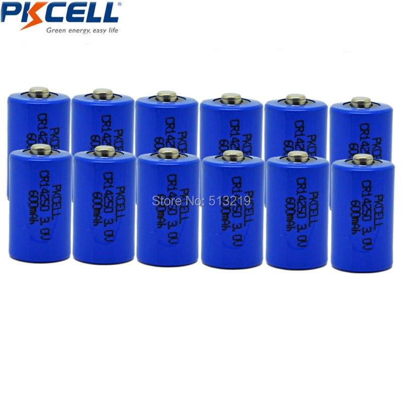 12 шт. 1/2AA Батарея cr14250 14250 cr 3 В 600 мАч литиевых Батарея <font><b>li</b></font>/mono2 Батареи