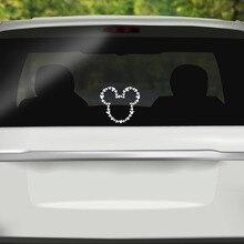 Забавные Стикеры для автомобиля Веселый Микки Маус крышка царапины мультфильм окно наклейка для мотоцикла vw Bmw E46 Ford Focus