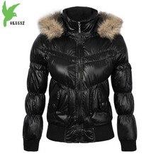 2017 Women Winter Down cotton Short Jacket Coats Raccoon fur collar Hooded Parkas Plus size Female Warm Short Jackets OKXGNZ1116