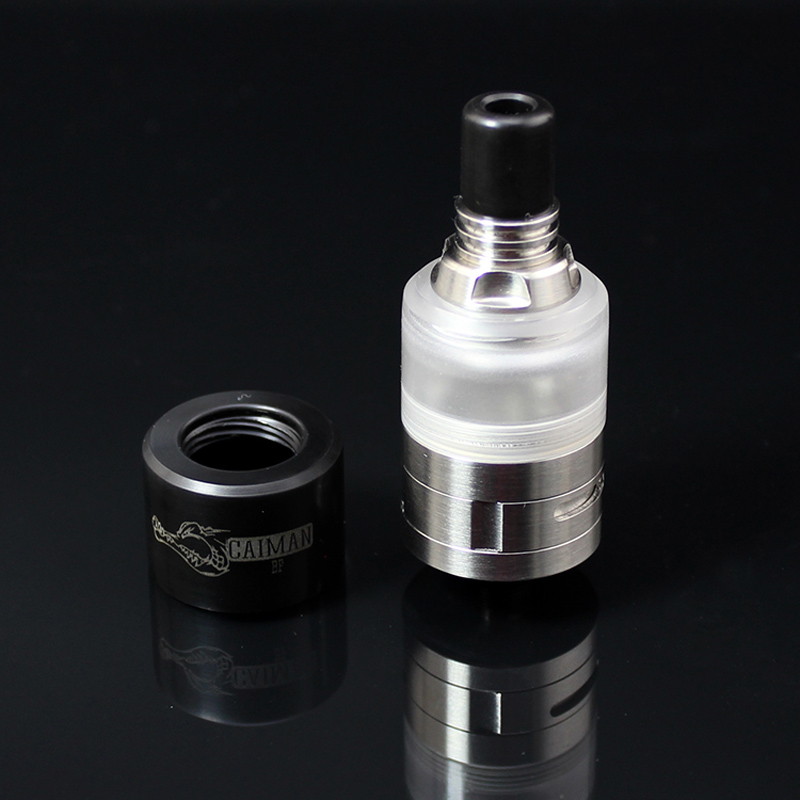 SXK Caiman RDA MTL BF RDA Atomizer 22mm Rebuildable Dripping Atomizer 316SS Mouth To Lung Rta Including Bottom Feed Pin
