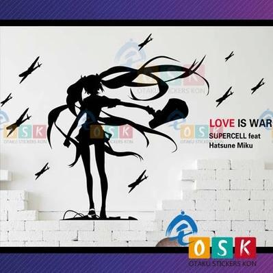 Pegatina Anime Cartoon Car Sticker Hatsune Miku Vinyl Wall Stickers Decal Decor Home Dec ...