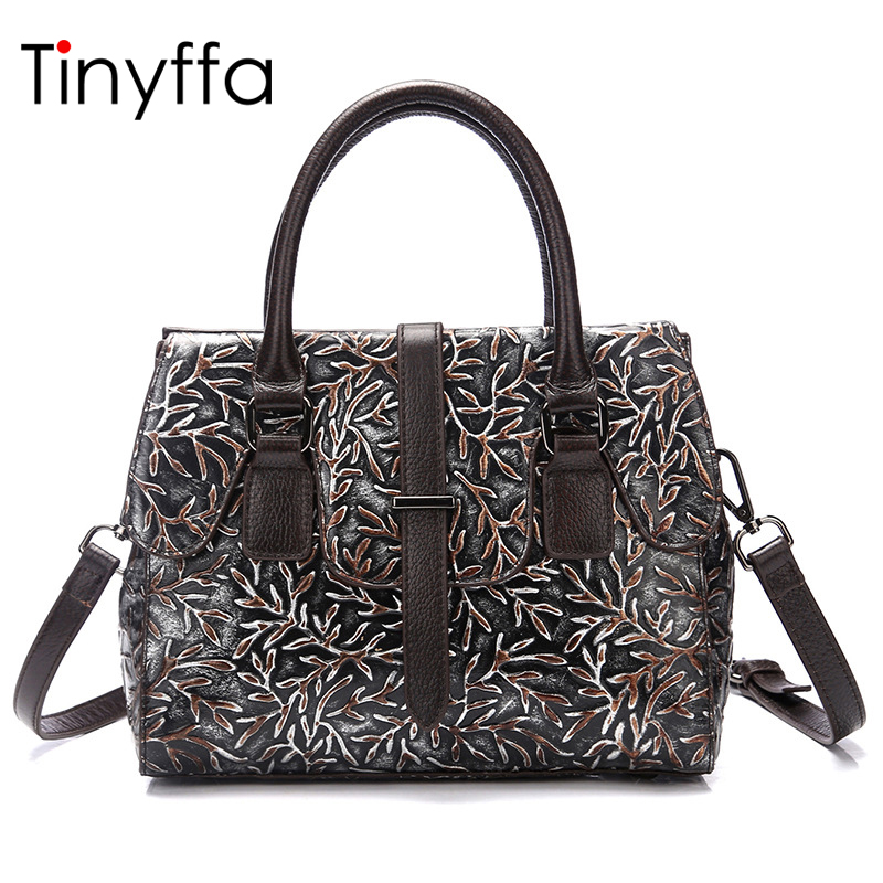Tinyffa Famous Brand Genuine leather  bag Luxury handbags women bags designer High quality Ladies Shoulder Messenger Bag Handbag комбинезоны эротик passion комбинезон чаровница