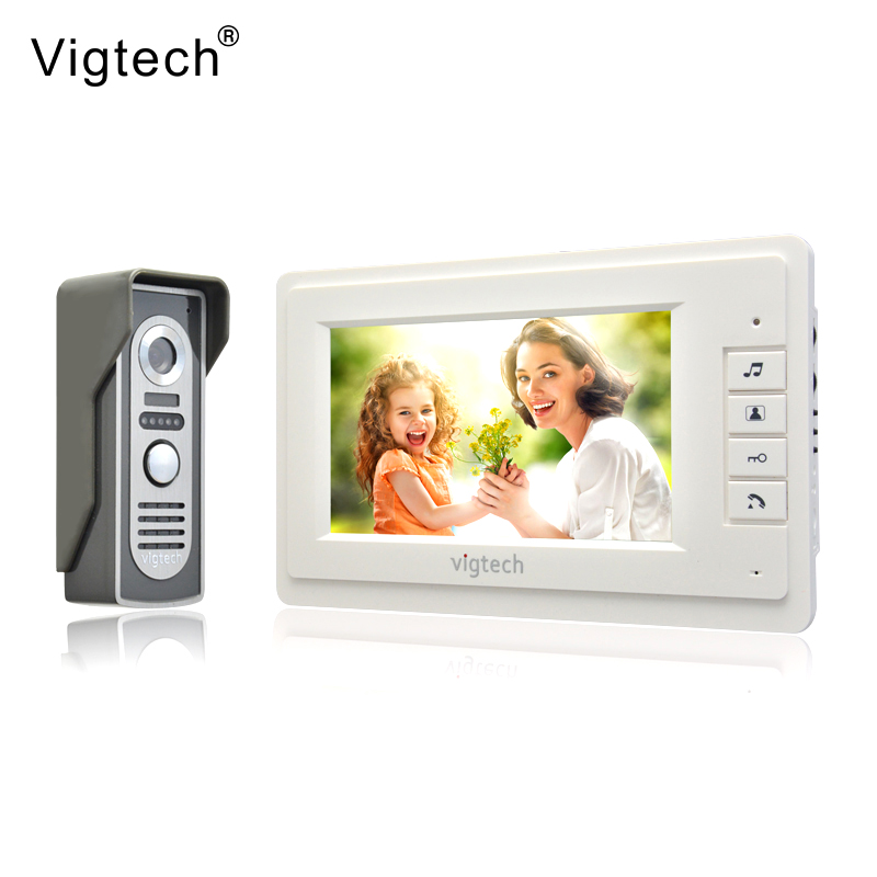 Vigtech 7 Inch LCD Color Video Door Phone Intercom System Weatherproof Night Vision Camera Home Security FREE SHIPPING
