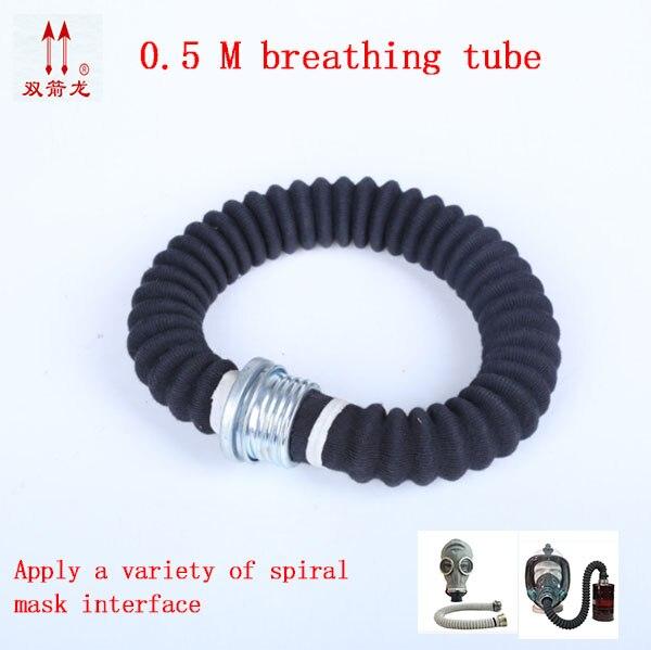Mascarilla de Gas General de alta calidad 0,5 M, tubo de respiración aplicable, máscara variada, respirador, respirador