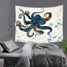 купить Creative octopus patterns print Indian tapestry hippie mandala wall hanging Bohemian bedspread dorm decor tapestry 51x60