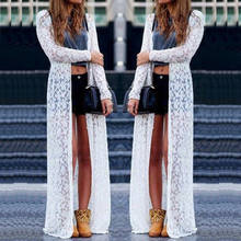 Hot Women Sexy Summer Lace Bikini Cover Up Swimwear Bathing Beach Robe Long Dress(China)