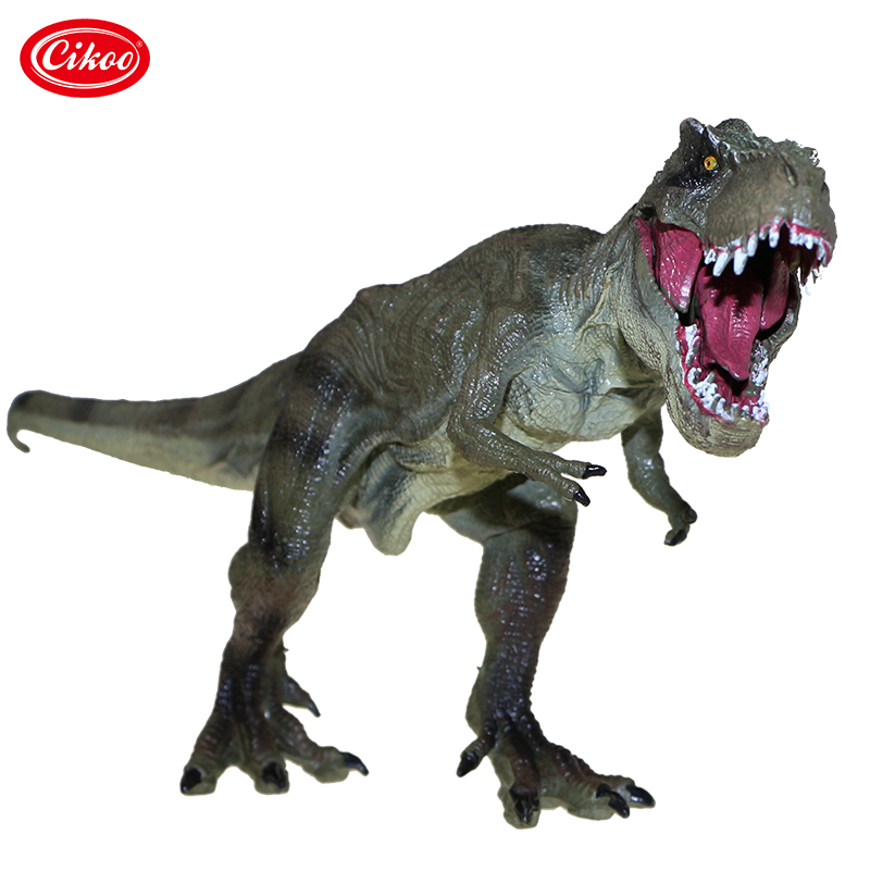 все цены на Jurassic World Park Tyrannosaurus Rex Dinosaur Model Toys Animal Plastic PVC Action Figure Toy For Kids Gifts