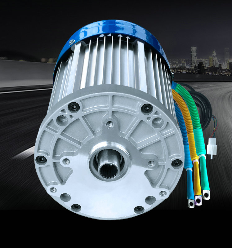 60V/72V 3000W 4600RPM permanent magnet brushless DC motor differential speed electric vehicles, machine tools, DIY Accessories