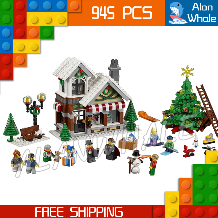 945pcs Creator Expert Winter Holiday Toy Shop 39015 Figure Building Kit Blocks Children Family Toys  Compatible With LegoING-in Blocks from Toys & Hobbies