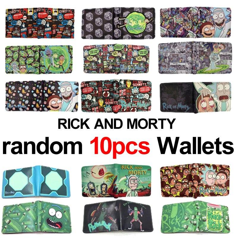 MeanCat Wholesale 10st / lot Anime Cartoon Rick och Morty Folded - Plånböcker - Foto 1