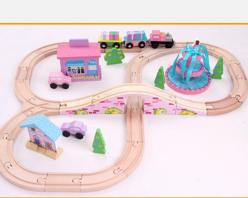 Onshine 41 pcs SXR Kids Toys Thomas train Toy Model Cars electric puzzle Building slot track Rail transit Best Gifts In Stock