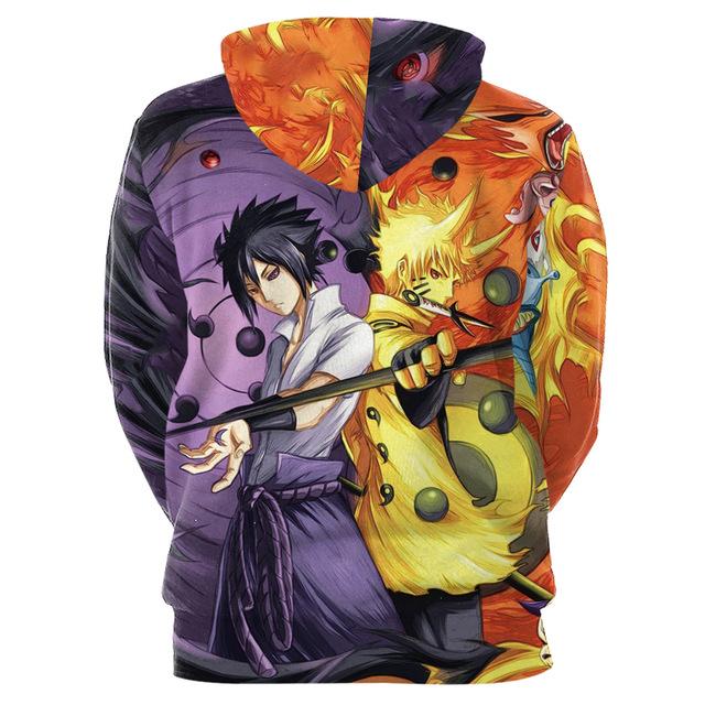 Naruto Sasuke 3D Print Hoodies