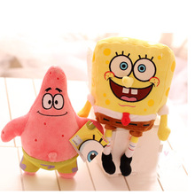 Kid Spongebob Stuffed Plush Toy Sponge Bob/Patrick/Crab/Sandy/Octopus/Snail Dolls Kids Plush Toys Best Gift For Children