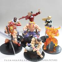 Free Shipping Retail 1set Game Toys Capcom Street Fighter PVC Action Figure Ryu Alex M. Bison Figure Toys Dolls set of 7 MVFG008