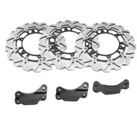 1 Set Motorcycle Front Rear Brake Disc Rotor Black For Y A M A H A