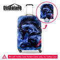 Dispalang washable dustproof suitcase cover 3D horse printing luggage protective cover 18-30 inch stretch protect trolley covers