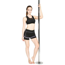 1 Set 2018 New Portable Stripper Pole Fitness Exercise Spinning Dancing Steel Pole Professional Dancing Spinning Pole 2.3~ 2.7m