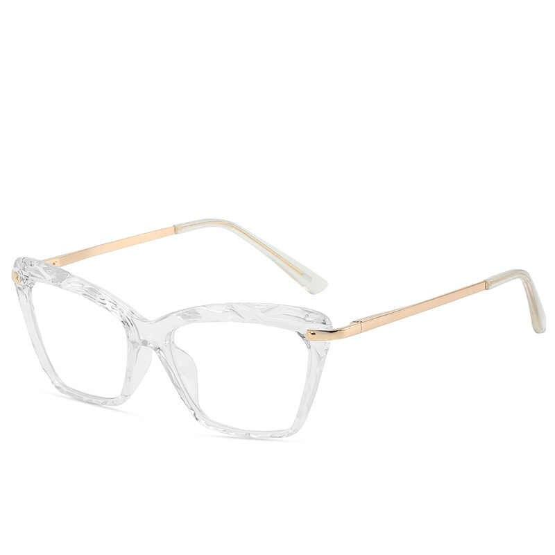 Fashion Square Bingkai Kacamata Fir Wanita Trendi Merek Seksi Mata Kucing Kacamata Kacamata Optik Komputer Kacamata Oculos Armacao 2019