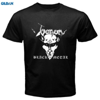GILDAN New VENOM Black Metal Rock Band Men S Black T Shirt Size Casual T Shirt