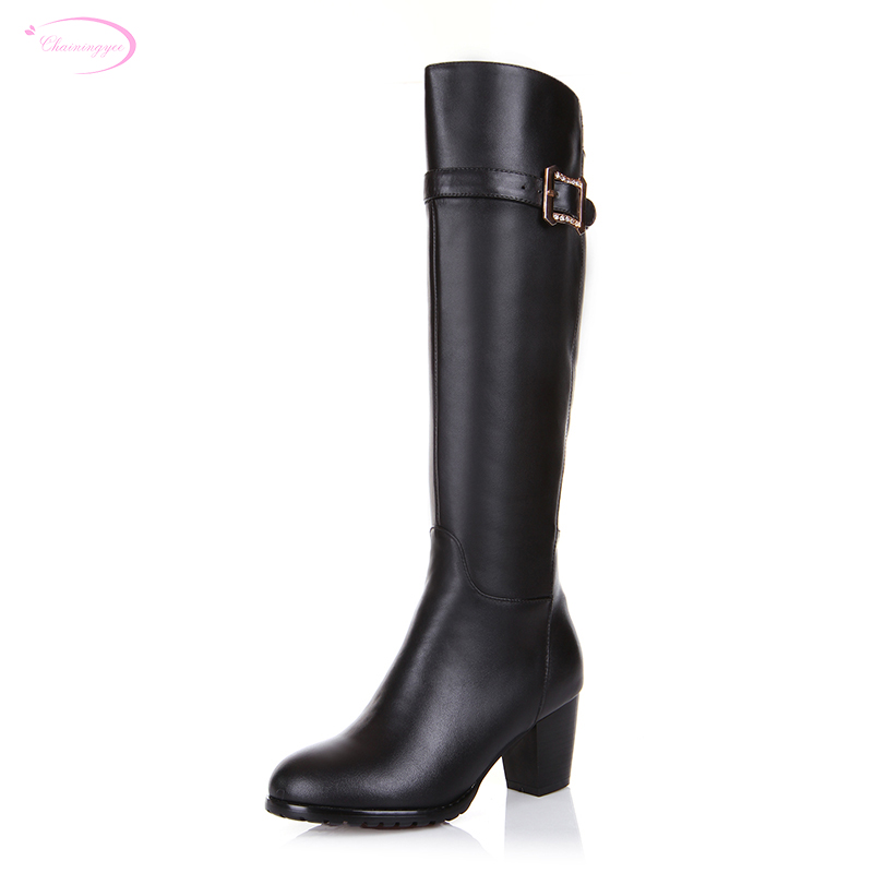 Chainingyee handmade quality custom patent leather zippers knee high boots med with wedges women's riding boots handmade quality custom sexy charm contracted style leather side zippers rivet women s knight boots