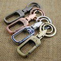 double loops carabiner keychain key holder high quality waist hanging key chain key ring retro sleutelhanger llaveros hombre