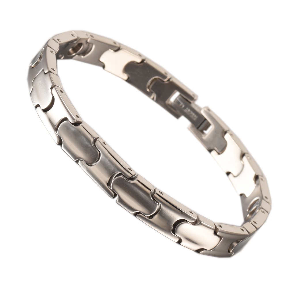 Wollet Jewelry Titanium Bracelets for Men Women Rose Gold Metallic Color 99 999 Pure Germanium Health Healing Energy in Chain Link Bracelets from Jewelry Accessories