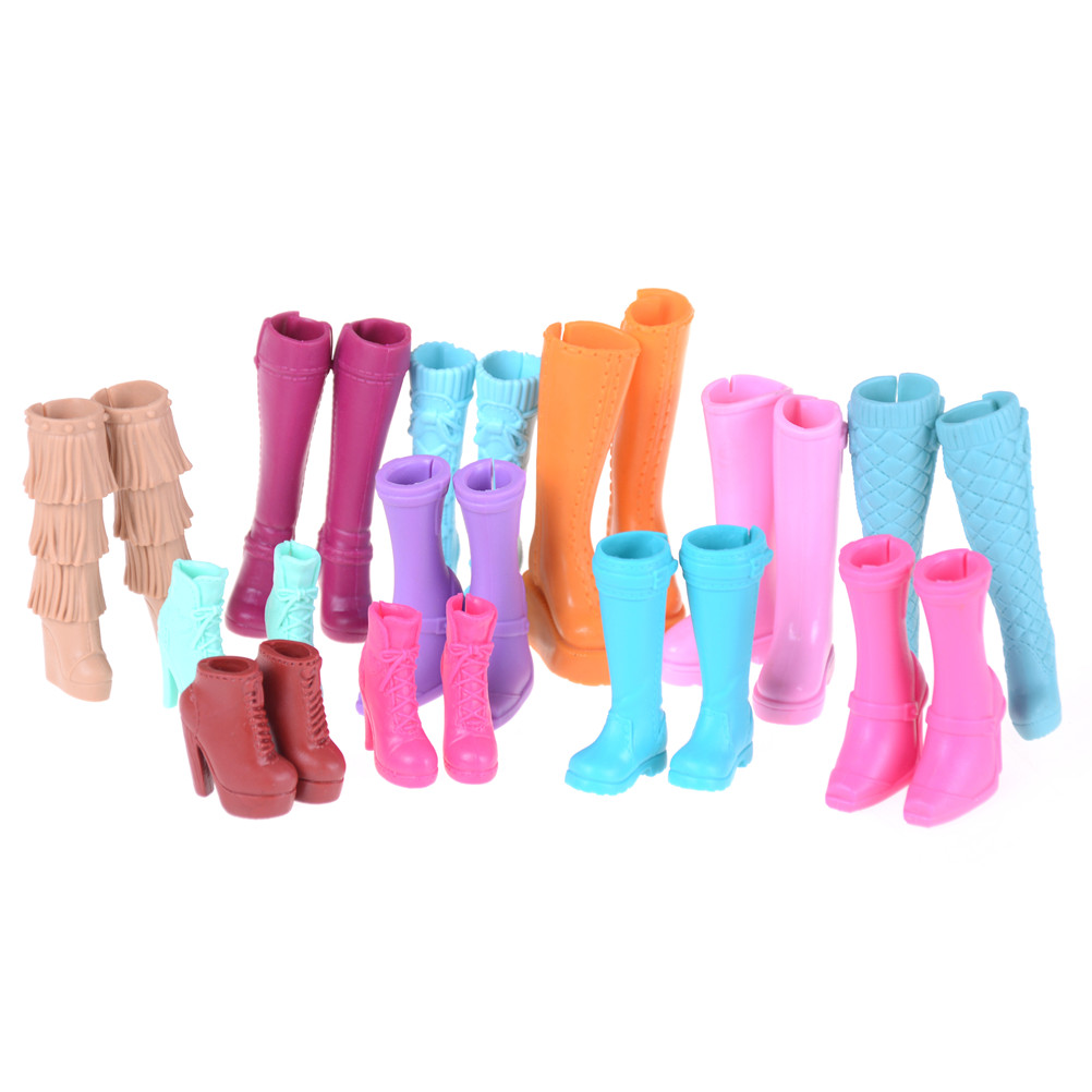 One Pair Elegance High Heels Boots Sandals Party Dinner Daily Wear Colorful Mixed Shoes For  Doll Clothes Accessories Gift