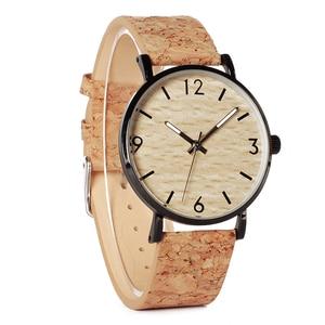 Image 2 - BOBO BIRD montres à Quartz pour hommes, avec cadran en liège souple, Grain de bois, comme article cadeau, boîte en acier inoxydable