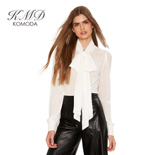 KMD KOMODA White Sheer Blouse Shirt Women Long Sleeve Elegant  Top Female Casual Basic Brief Office Ladies