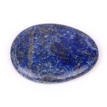 Azul Lapislázuli Piedra Ijada Natural Cristales de Sanación Reiki Chakra Piedra Pulgar WS0016