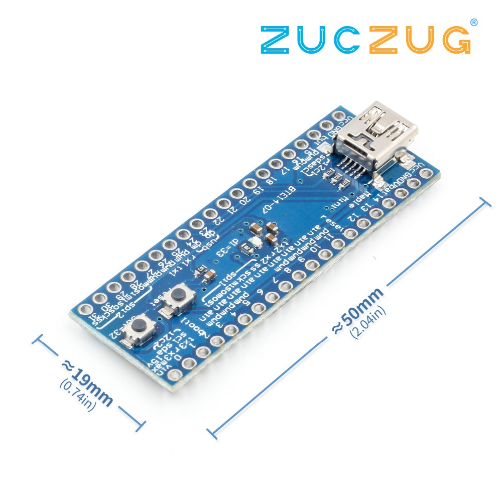 STM32F103CBT6 Maple Mini ARM STM32 Cortex-M3 Controller Board Module 3.3V USB Digital IO PWM Pins Port