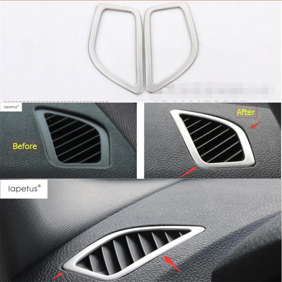 Lapetus Accessories For <font><b>BMW</b></font> 1 Series 116i <font><b>118i</b></font> <font><b>f20</b></font> 2012 - 2017 Inside Air Condition AC Outlet Vent Frame Molding Cover Kit Trim image