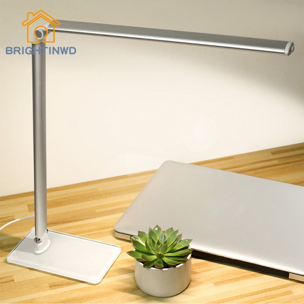 LED Desk Lamp Touch switch Promise regulation A variety of brightness color temperature working study learnin tsble lamp the price regulation of