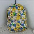 Cartoonn Adventure Time Canvas Backpack Anime Totoro Printing Student Boys & Girls School Bag Travel Shoulder Bag Sack Mochila