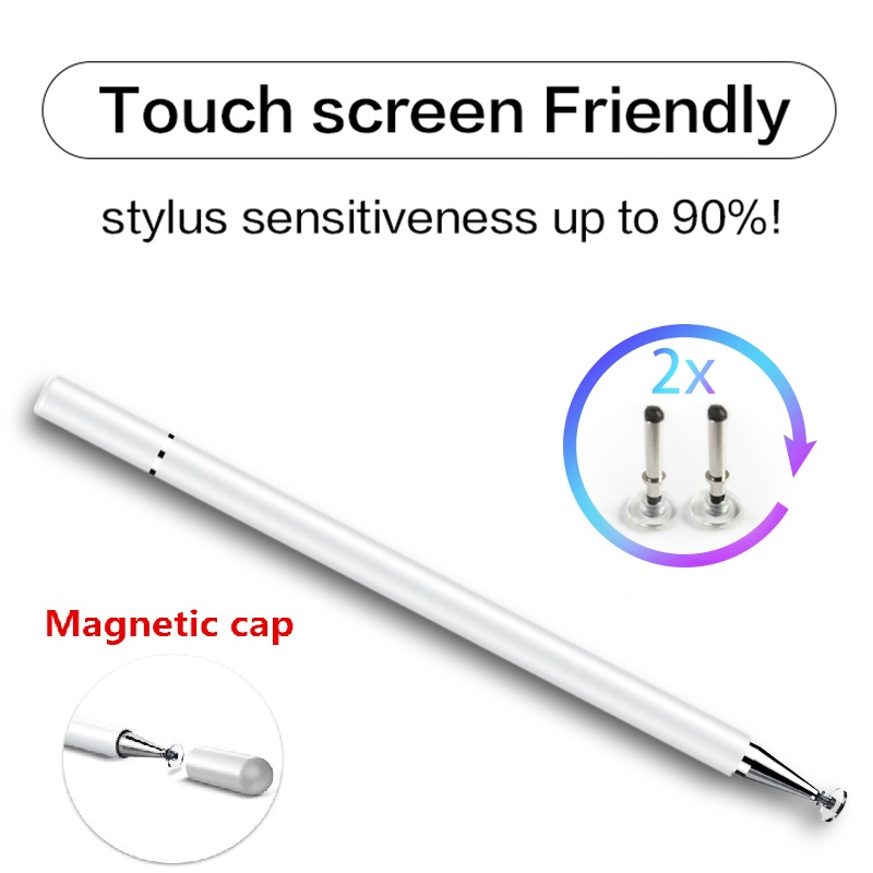 CJY Metal Fine Point Disc tip capacitive stylus Magnet hidden disc tip Pen For iPhone iPad stylus For Samsung Tablet <font><b>touch</b></font> stylu image