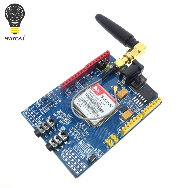 WAVGAT SIM900 850/900/1800/1900 <font><b>MHz</b></font> GPRS/GSM Development Board Module Kit For Arduino image
